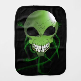 Green alien Baby Burp Cloth