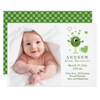 Green Alien Birth Photo Announcement