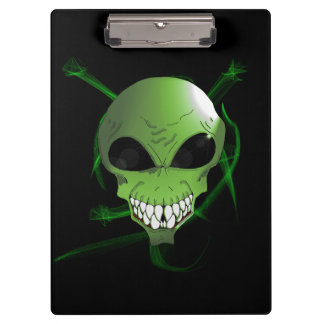 Green Alien Clipboard