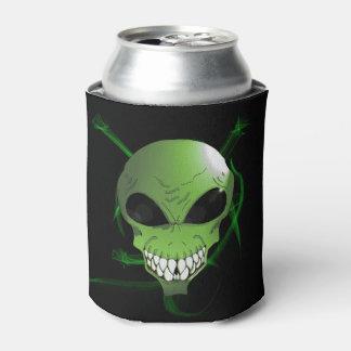 Green alien Custom Can Cooler
