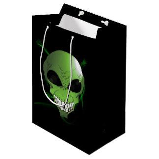 Green Alien custom gift bag