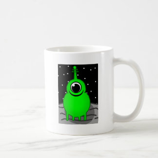 Green Alien Drawing Coffee Mug