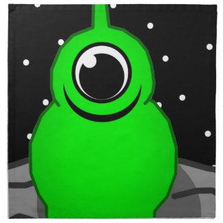 Green Alien Drawing Napkin