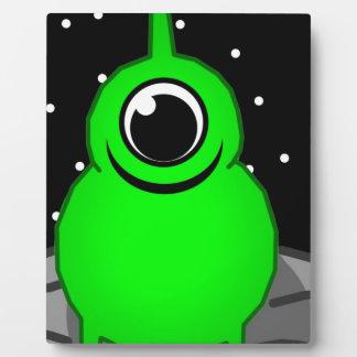 Green Alien Drawing Plaque