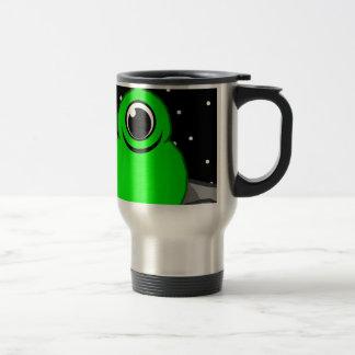 Green Alien Drawing Travel Mug