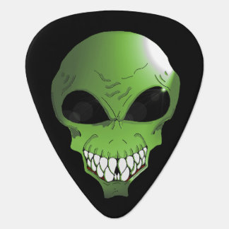 Green alien guitar pic guitar pick