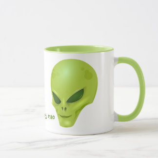 Green Alien Head Mug (ayy lmao)