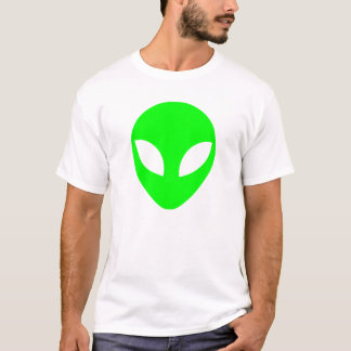 Green Alien Head T-Shirt