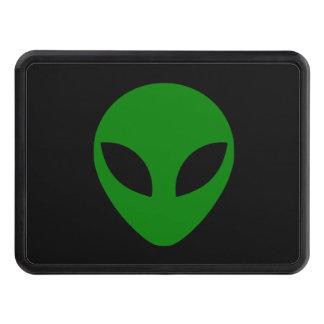Green Alien Head Trailer Hitch Cover
