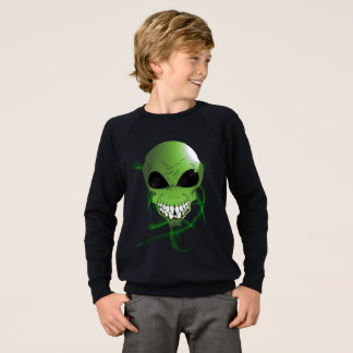 Green alien Kids' American Apparel Sweatshirt