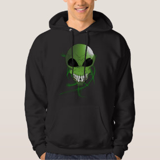Green alien Men's Basic Hooded Sweatshirt