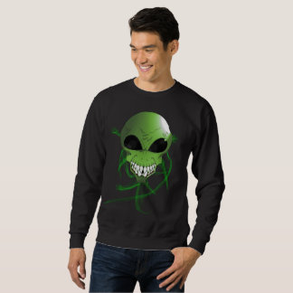 Green alien Men's Basic Sweatshirt