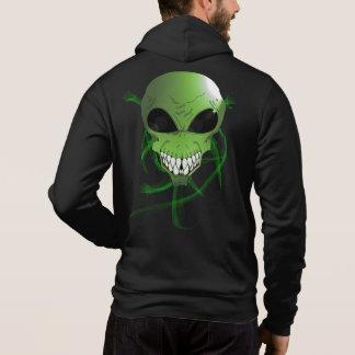 Green alien Men's Bella+Canvas Full-Zip Hoodie