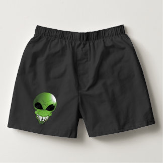 Green alien Men's Boxercraft Cotton Boxers