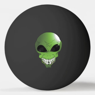 Green Alien One Star Ping Pong Ball