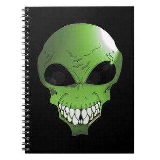 Green Alien Photo Notebook (80 Pages B&W)