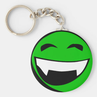 Green Alien toothy grin Keychain