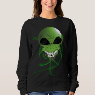 Green alien Women's Basic Sweatshirt