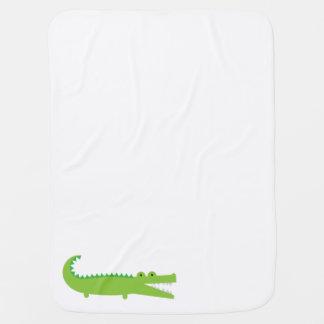 Green Alligator Baby Blanket