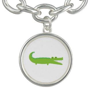 Green Alligator Charm Bracelet