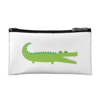 Green Alligator Cosmetic Bag
