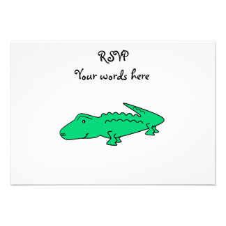 Green alligator personalized announcement