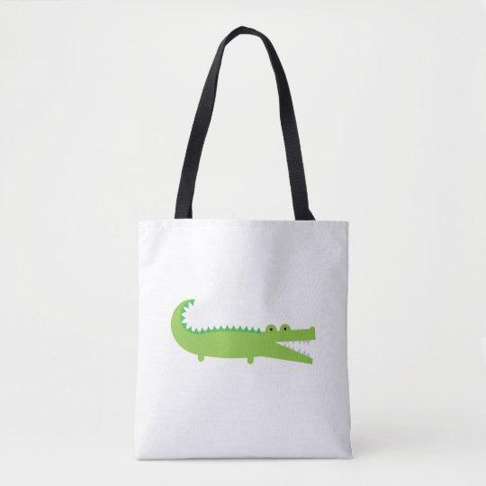 Green Alligator Tote Bag