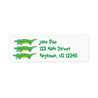 Green Alligators Gator Return Address Labels