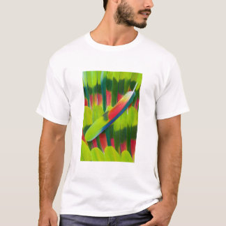 Green amazon parrot feathers T-Shirt