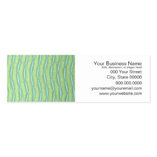 Green and Aquamarine Turquoise Pattern Business Card Template