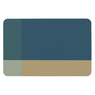 Green and Beige Color Blocks Rectangular Photo Magnet