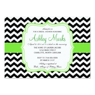 "Green and Black 5"" X 7"" Invitation Card"