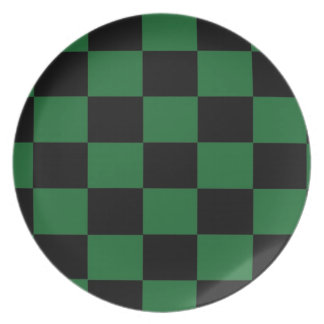 Green and Black Checkered Plate