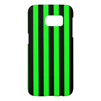 Green and Black Coloured striped pattern Samsung Galaxy S7 Case