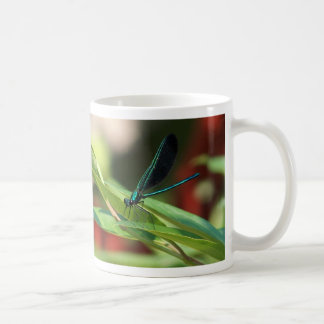 Green and Black Dragonfly Mug