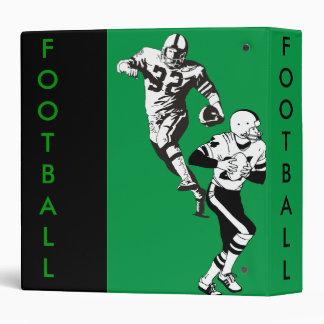 Green and Black Football Binder