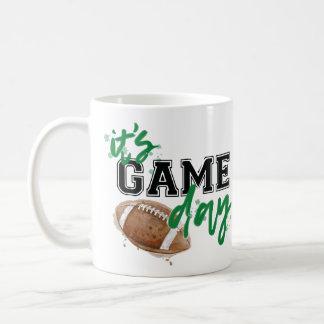 Green and Black Game Day Mug