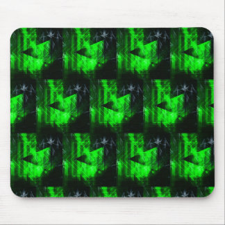 Green and Black Geometrical Abstract Pattern Mouse Pad