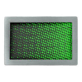 Green And Black Halftone Belt Buckle