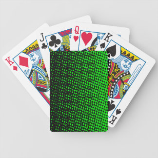 Green And Black Halftone Bicycle Playing Cards
