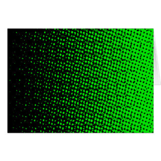 Green And Black Halftone Card