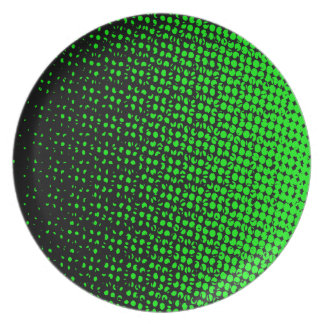 Green And Black Halftone Plate