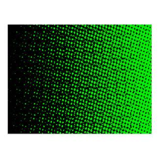 Green And Black Halftone Postcard