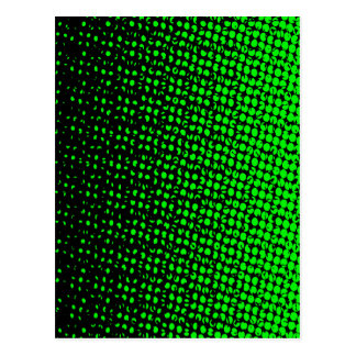 Green And Black Halftone Postcard