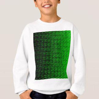 Green And Black Halftone Sweatshirt