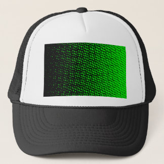 Green And Black Halftone Trucker Hat