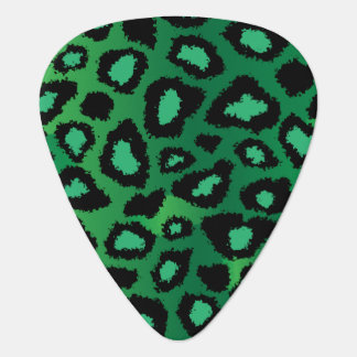 Green And Black Leopard Pattern Guitar Pick