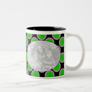 green and black photo frame Two-Tone mug