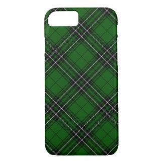 Green and Black Scottish Clan MacLean Tartan iPhone 8/7 Case