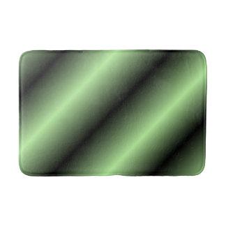 Green and Black Stripe Bath Mat